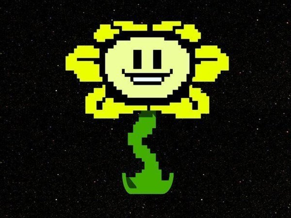 Medium Flowey the Flower 3D Printing 49713