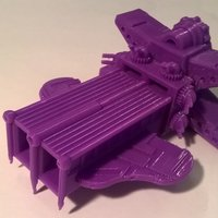Small UNSP Battle Carrier Spaceship 3D Printing 49857