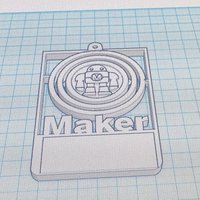 Small Maker Customizable Badge w/ Gimbal 3D Printing 49965