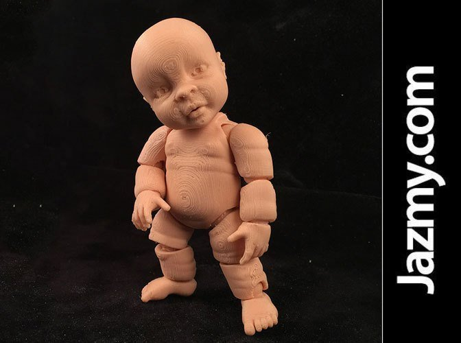 Realistic Articulated Miniature Baby Doll - One Piece 3D Printing 49999