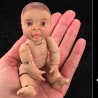 Small 3d Realistic Articulate Ball Jointed Miniature Baby Doll 3D Printing 50000
