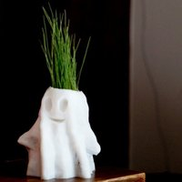 Small Halloween Ghost Planter 3D Printing 50147