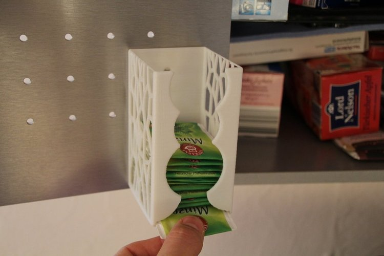 Teabag Dispenser Cupboard Voronoi Sytle 3D Print 50214