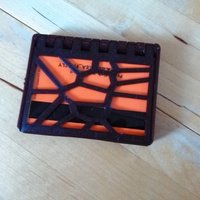 Small folding wallet cassette in voronoi style 3D Printing 50221