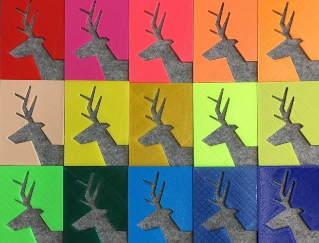 The 2D & 3D tiles of deer. 3D Print 50429