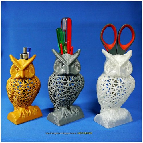 Owl Pen Holder / Tools Holder 3D Print 50435