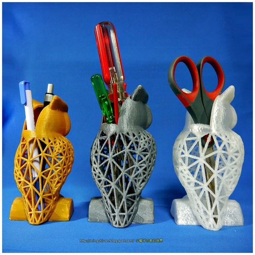 Owl Pen Holder / Tools Holder 3D Print 50436