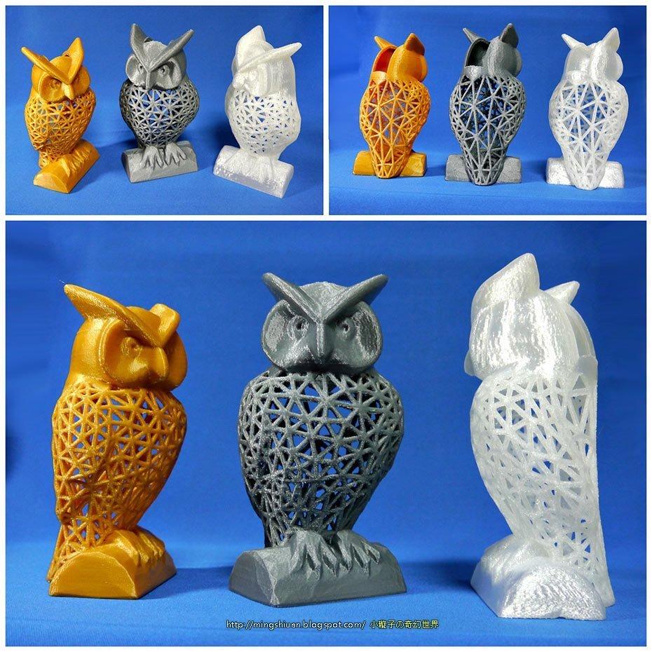 3d printed owl pen holder tools holder by mingshiuan pinshape