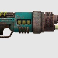 Small Fallout: New Vegas - Recharger Rifle 3D Printing 50535