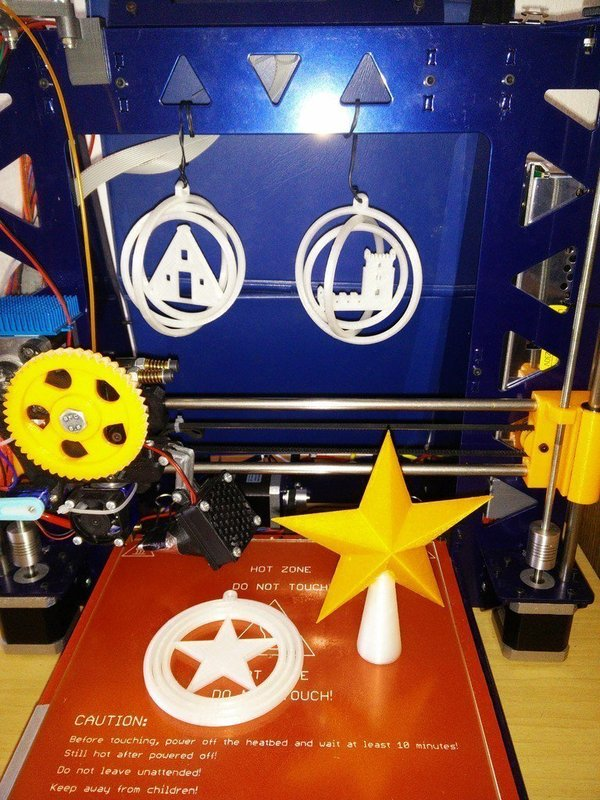 Medium Euro christmas tree ornaments 3D Printing 50570
