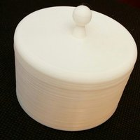 Small Round box with top 3D Printing 50618