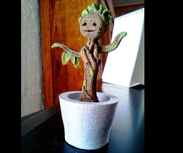 Medium Dancing Baby Groot 3D Printing 5064