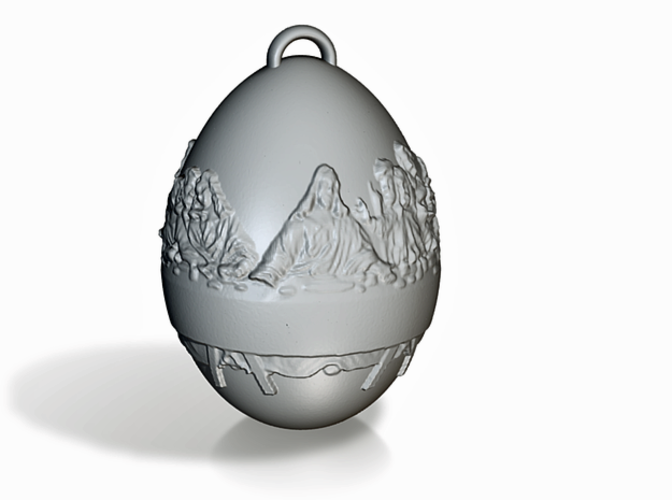 Last Supper Holiday Egg 3D Print 50648