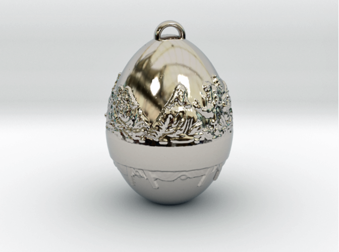 Last Supper Holiday Egg 3D Print 50649