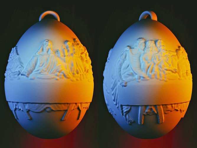 Last Supper Holiday Egg 3D Print 50650