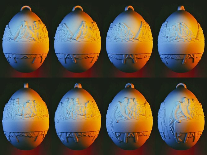 Last Supper Holiday Egg 3D Print 50651