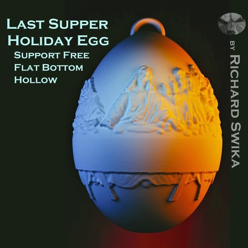 Last Supper Holiday Egg 3D Print 50653