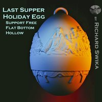 Small Last Supper Holiday Egg 3D Printing 50653