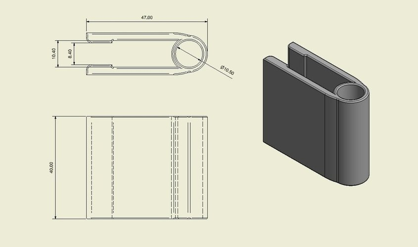 Field Notes Booklet Pen Clip - ReMix 3D Print 50789