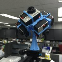 Small GoPro Her0 3/4 360 Spherical Rig 3D Printing 50799