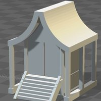 Small N scale Japanese shrine 3D Printing 50908