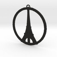 Small Paris Peace Pendant 3D Printing 50930