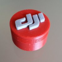 Small DJI Phantom Lens Cap in Red 3D Printing 50950