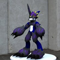 Small Dark Flamedramon Action Figure Statue  3D Printing 50990