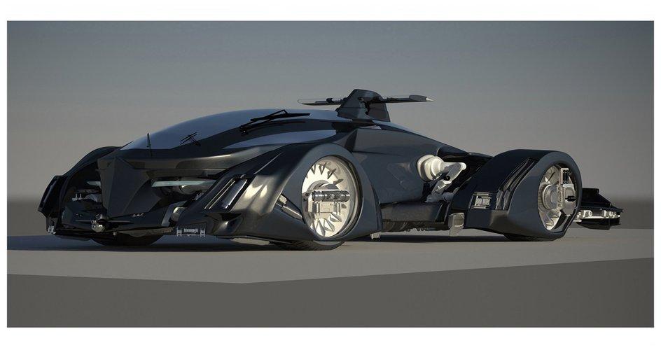 Vhc   Futuristic Sport Car 3D Print 51000