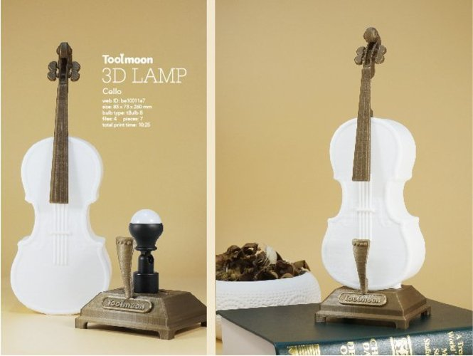 cello lamp 3D Print 51014