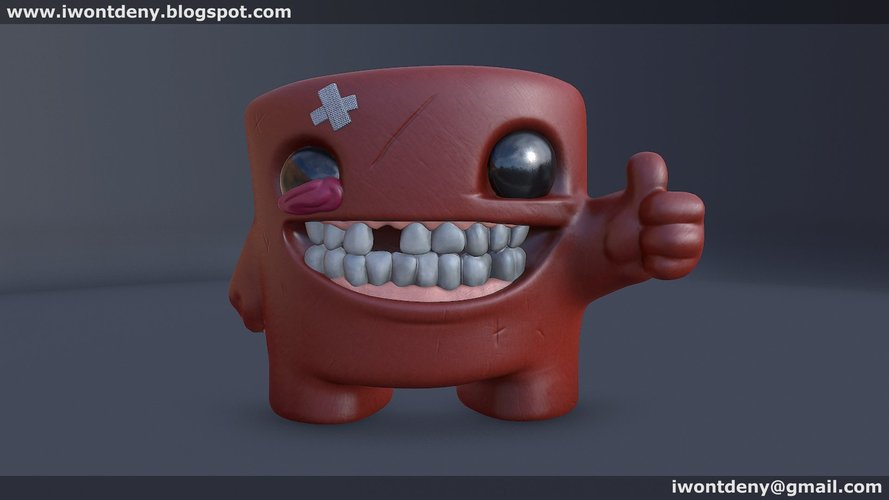 Super Meat Boy 3D Print 51070