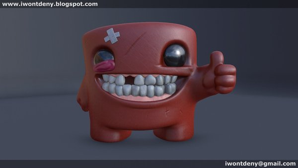 Medium Super Meat Boy 3D Printing 51070