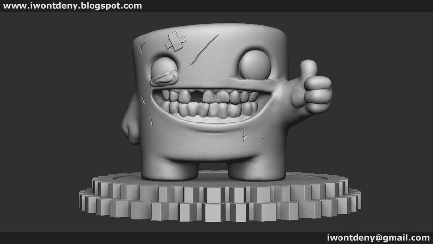 Super Meat Boy 3D Print 51071