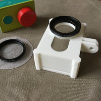 Small Yi cage with lens filter adapter 3D Printing 51082