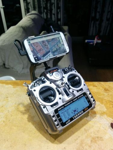 3D Printed FRSky TARANIS telemetry mobile phone holder by