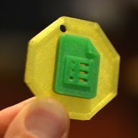 Small MkrClub Badge Platform 3D Printing 51179