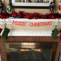 Small Merry Christmas Banner 3D Printing 51213