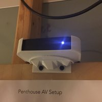 Small Apple TV 2 & 3 rotated mount 3D Printing 51237