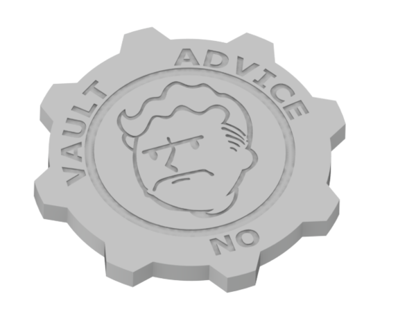 Medium Fallout coin 3D Printing 51262