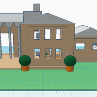 Small Mansion with furniture  3D Printing 51280