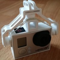 Small  DJI Phantom FC40 GoPro 3 Holder / Adapter 3D Printing 51294