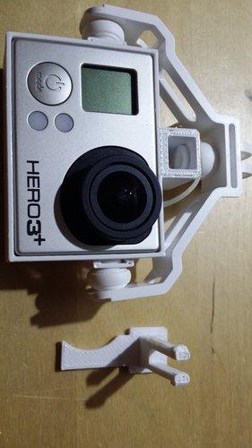 3d Printed Dji Phantom Fc40 Gopro 3 Holder Adapter By