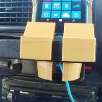 Small Toyota Pickup Cup Lumina 630 Cell Phone Holder 3D Printing 51326