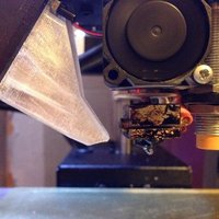Small Fan shroud for Printrbot Simple metal using E3Dv6 hotend 3D Printing 51468