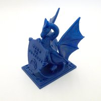 Small Roark The Dragon (DragonOff 2015 trophy) 3D Printing 51514