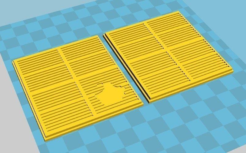 3D Printed SciFi Terrain Grating by lordnightwinter | Pinshape