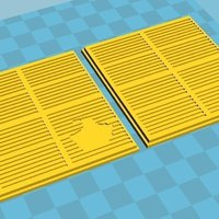 Small SciFi Terrain Grating 3D Printing 51536