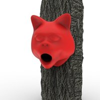 Small Cat Birdhouse 3D Printing 51638