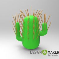 Small Cactus toothpick 3D Printing 51649