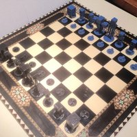 Small Minecraft Chess 3D Printing 51846